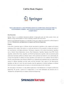 Springer book chapter invitation 2020