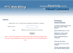 FESCO Duplicate Bill Print Online Through Customer ID 2020
