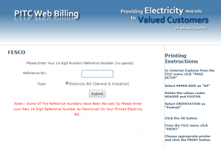 FESCO Duplicate Bill Print Online Through Customer ID 2020